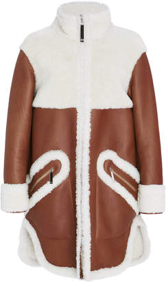 Maison Ullens Long Sleeve Shearling Coat