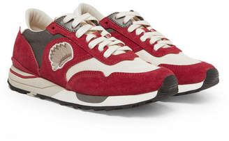 Visvim Roland Suede and Mesh Sneakers - Men - Red