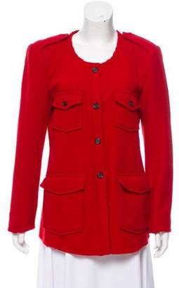 Etoile Isabel Marant Wool Collarless Blazer