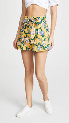 Moon River Tie Front Floral Shorts