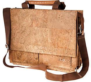 Earth Cork Tondela Briefcase, Khaki