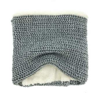 accsa Women Soft Fleece Lining Thick Knit Neck Wear Circle Loop Scarf Grey