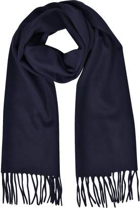 Mila Schon Cashmere and Wool Fringed Long Scarf