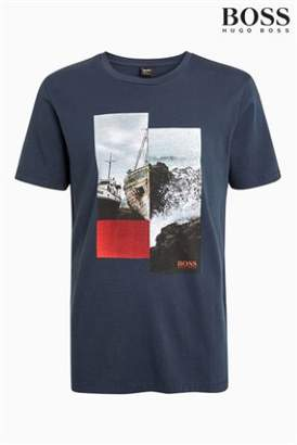 Next Mens BOSS TLax Graphic T-Shirt