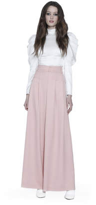 Alice + Olivia Brenna Fitted Puff Sleeve Top