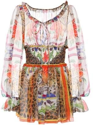 Dolce & Gabbana Printed silk chiffon blouse
