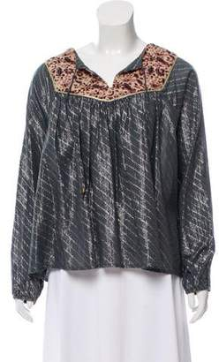 Maison Scotch Printed Long Sleeve Top w/ Tags
