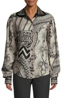 Etro Wool Art Deco Blouse