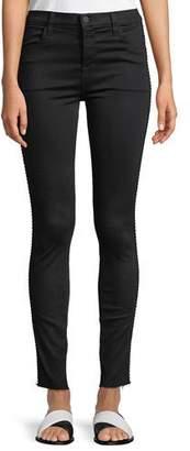 J Brand Maria High-Rise Super Skinny Jeans with Braid Side