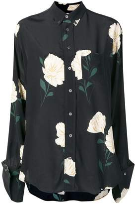 Hope floral print button-down shirt