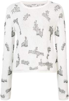 Saint Laurent distressed effect knitted jumper