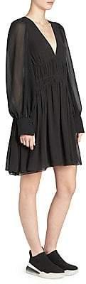 Stella McCartney Women's Georgette Silk Blouse Flare Dress