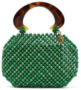 Rosantica By Michela Panero - Freddy Beaded Wood Handbag - Womens - Green Multi
