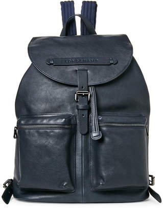 Longchamp Navy 3D Large Leather Backpack