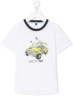 Emporio Armani Kids jeep logo print T-shirt