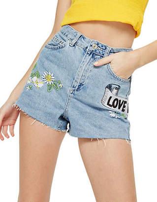 Topshop PETITE Love Me Not Mom Shorts