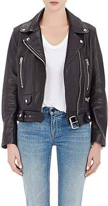 "Acne Studios Women's ""Mock"" Leather Moto Jacket - Black"