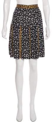 Diane von Furstenberg Risa Silk Knee-Length Skirt