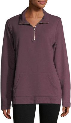 Allen Allen Half-Zip Mock-Neck Sweater $59 thestylecure.com