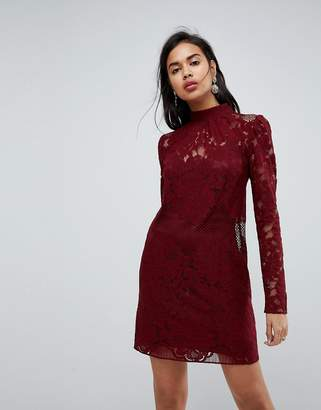Asos Design ULTIMATE Lace Mini Shift Dress