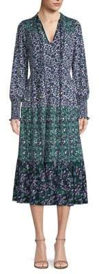 MICHAEL Michael Kors Woodblock Paisley Print Midi Dress