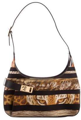 9a0b204098ed Pre-Owned at TheRealReal · Salvatore Ferragamo Animal Printed Nylon Bag