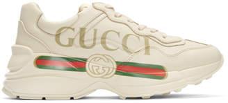 Gucci White Vintage Logo Rhyton Sneakers
