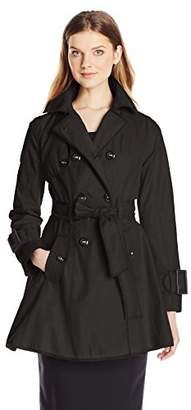 Betsey Johnson Women's Double Breasted Trench Coat with Piping and Corset Back $99.99 thestylecure.com