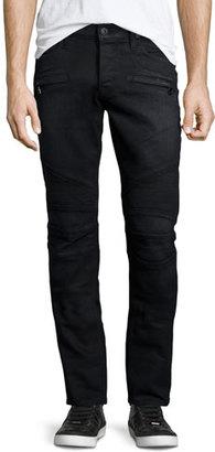 Hudson Blinder Biker Gilroy Moto Skinny Jeans, Black $275 thestylecure.com