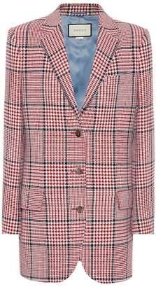 Gucci Checked wool-blend blazer