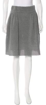Fendi Macramé Knee-Length Skirt