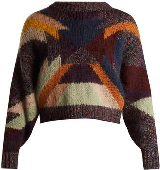 Isabel Marant Cadelia wool-blend cropped sweater