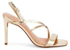 Halston Isla Stiletto Heel Leather Sandals