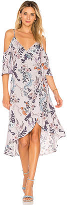 MinkPink Lavender Love Wrap Dress