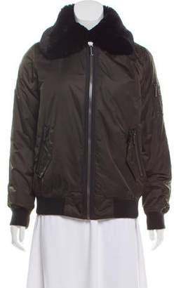 MICHAEL Michael Kors Fur-Accented Down Coat