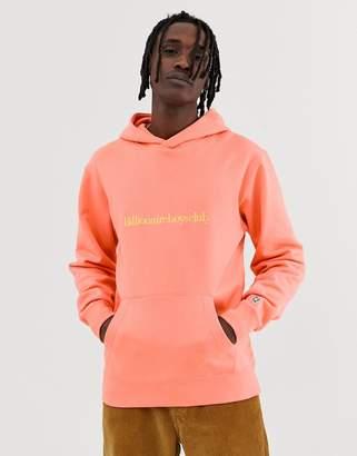 Billionaire Boys Club embroidered logo pullover hood in orange