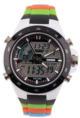 ICOCO Men's Dual Time Zones Analog Waterproof Luminous Wrist Watch