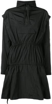 PAM zipped neck flared dress