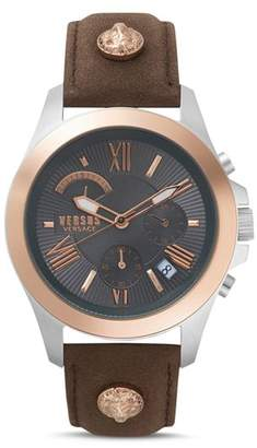 Versace Lion Brown Leather Strap Chronograph, 44mm