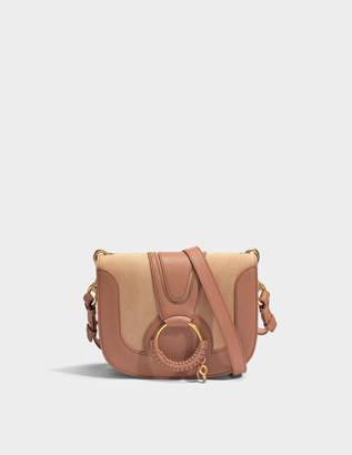 At Monnier Frères See By Chloe Hana Small Crossbody Bag In Nougat Grained Cow Skin And Cowhide