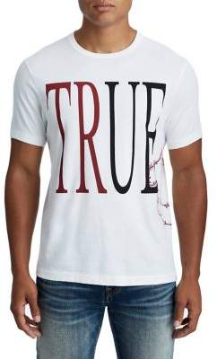 True Religion MENS BARBED WIRE LOGO TEE