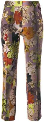 Luisa Cerano floral print cropped trousers