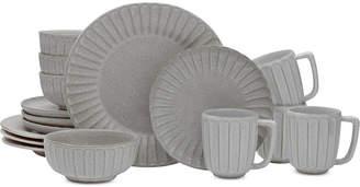Mikasa Monterey Gray 16-Piece Dinnerware Set, Service for 4