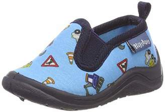 Playshoes Unisex Kids' Allover Baustelle Low-Top Slippers,2/3