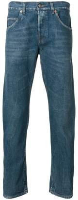 Gucci embroidered tapered jeans