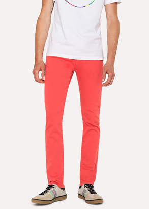 Paul Smith Men's Slim-Fit Coral Garment-Dye Jeans