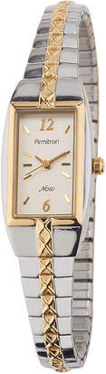 JCPenney Armitron Womens Rectangle Expansion Band Watch