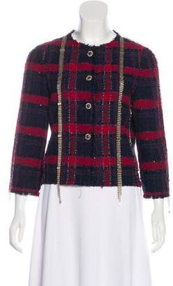Chanel Chain-Accented Tweed Jacket