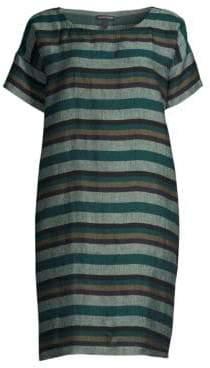 Eileen Fisher Organic Linen Striped Tunic Dress