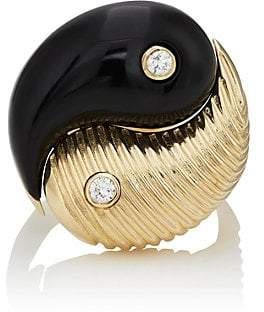 Ring Black RETROUVAI Women's Yin & Yang Ring - Black